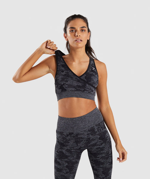 Gymshark Camo Seamless Sports Bra - Black 4