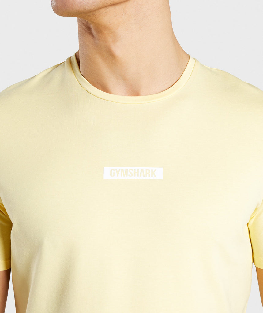 Gymshark Central T-Shirt - Yellow 5