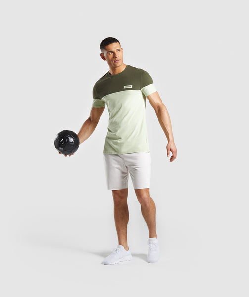 Gymshark Colour Block T-Shirt - Dark Green 3