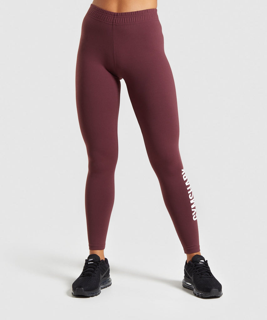 Gymshark Core Leggings - Berry Red 1