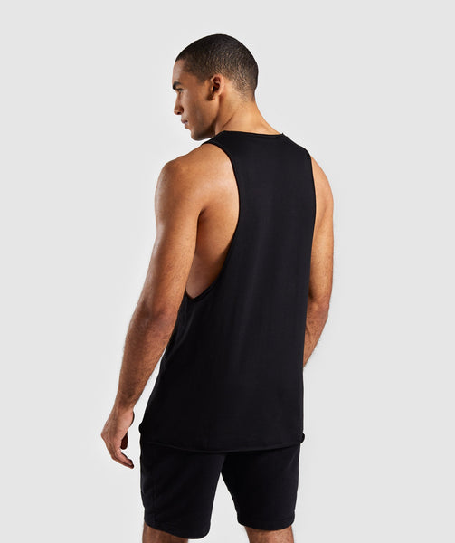 Gymshark Crucial Drop Arm Tank - Black 1