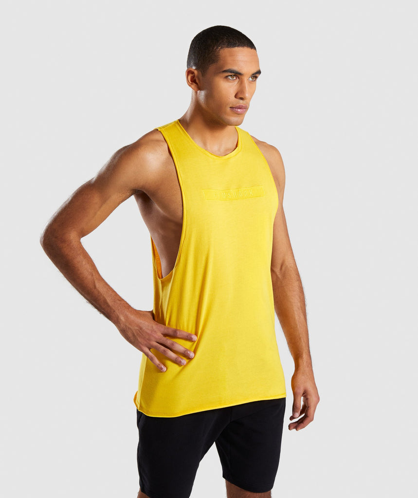 Gymshark Crucial Drop Arm Tank - Yellow 4