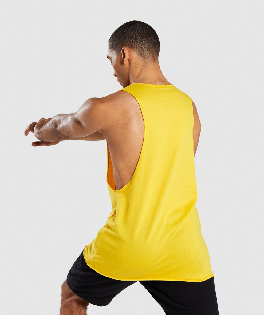 Gymshark Crucial Drop Arm Tank - Yellow 2