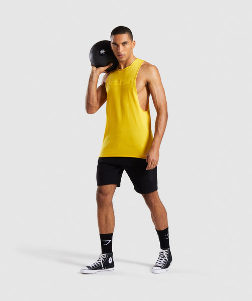 Gymshark Crucial Drop Arm Tank - Yellow 3
