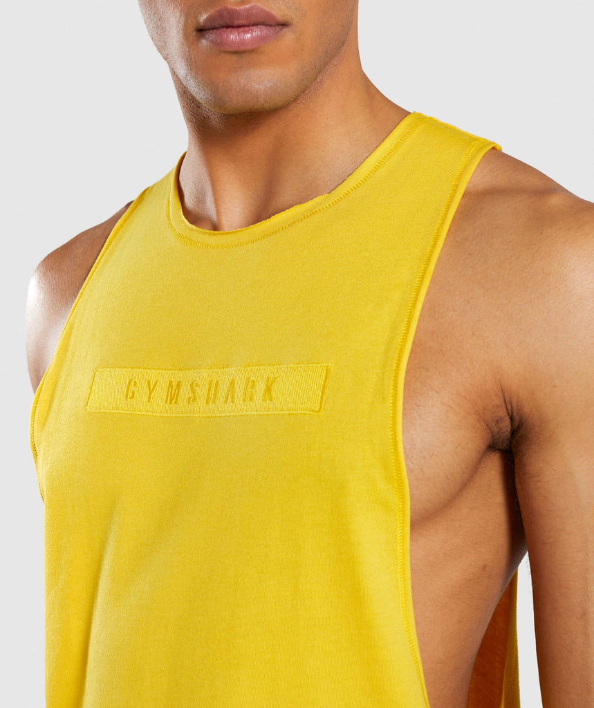 Gymshark Crucial Drop Arm Tank - Yellow 6