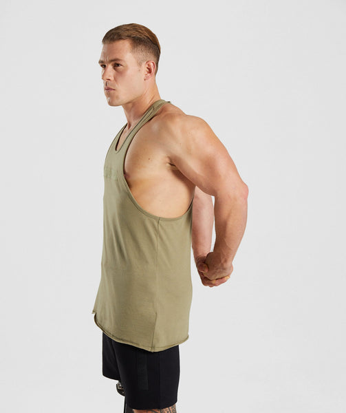 Gymshark Crucial Stringer - Light Khaki 4