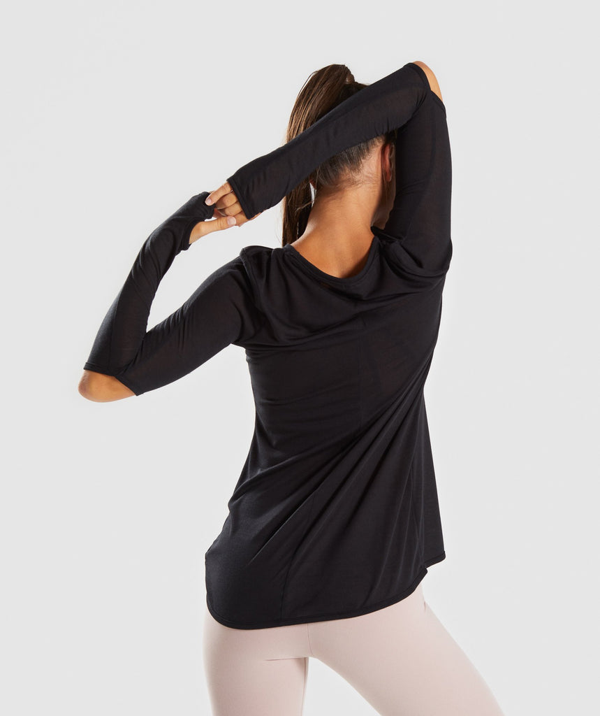 Gymshark Cut Out Long Sleeve - Black 2