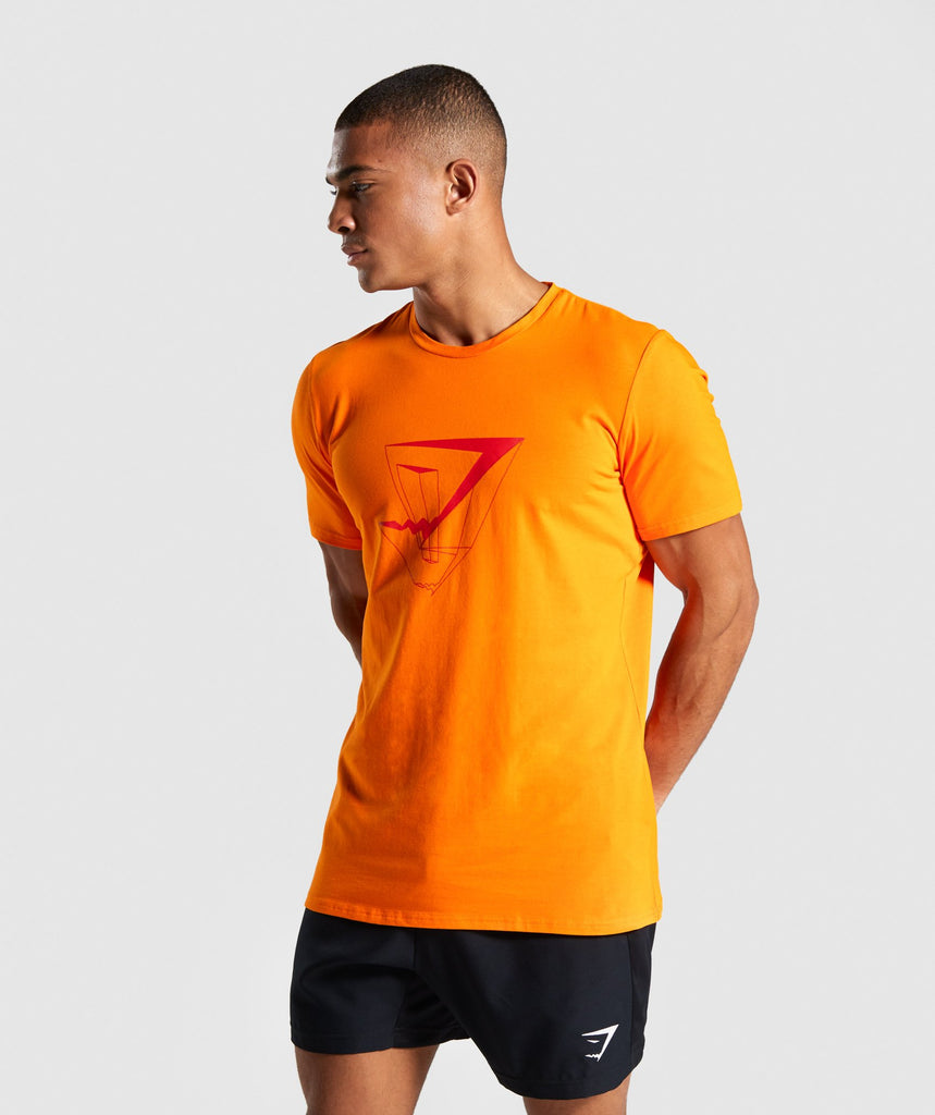 Gymshark Dimension T-Shirt - Orange 1