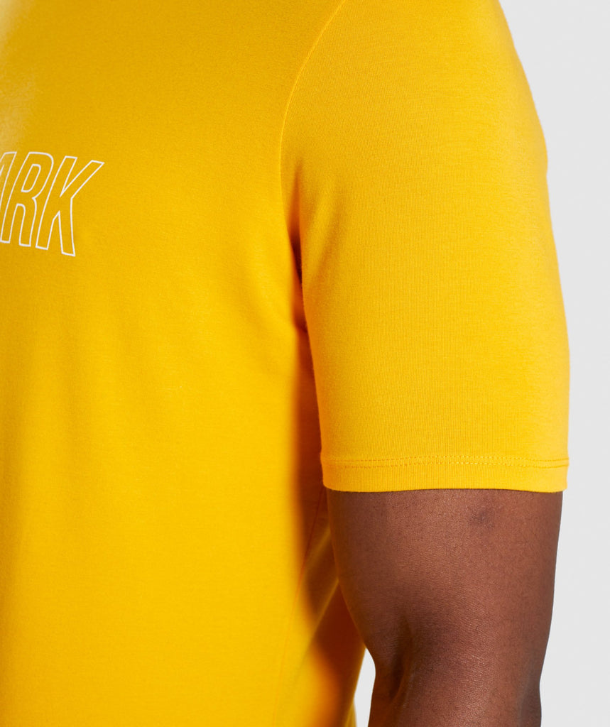 Gymshark Distort T-Shirt - Citrus Yellow 5