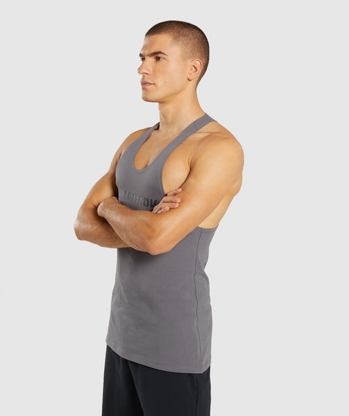 Gymshark Divide Stringer - Smokey Grey 2