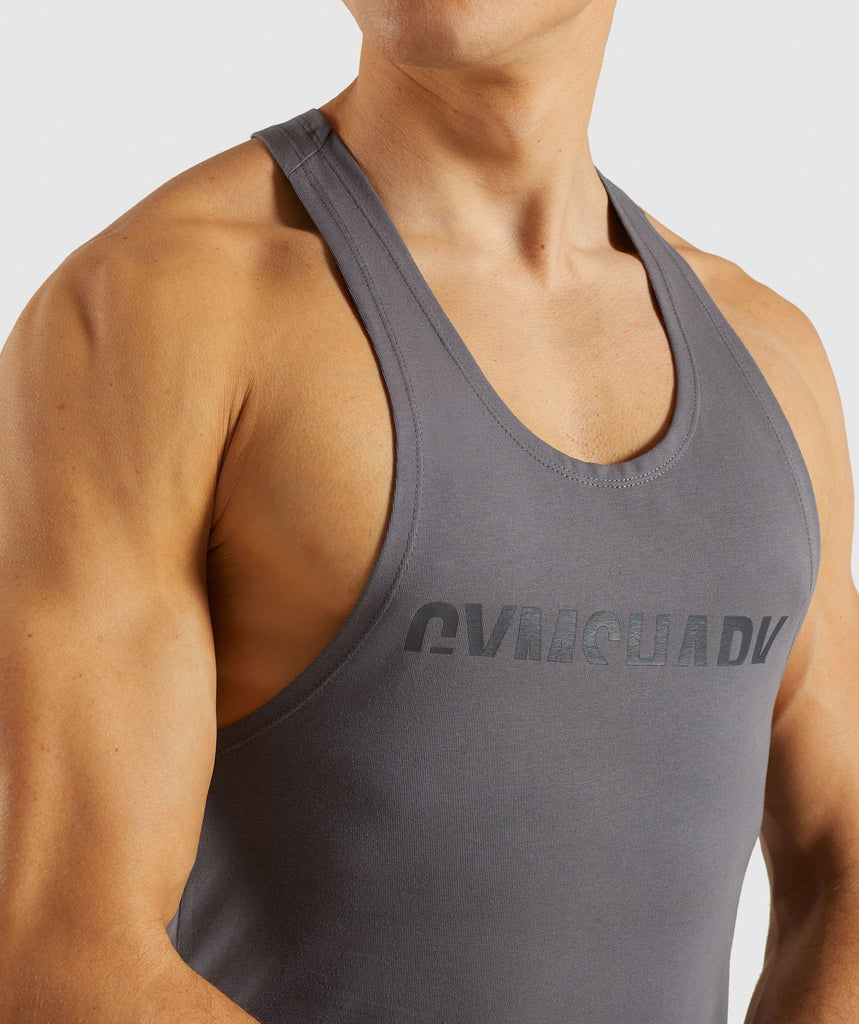 Gymshark Divide Stringer - Smokey Grey 5