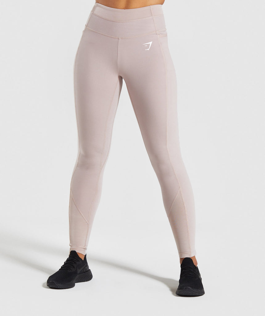 Gymshark Dreamy Mesh Leggings - Taupe 1
