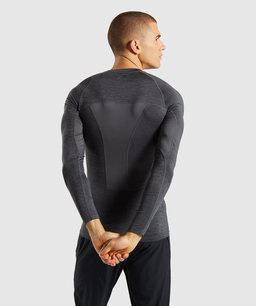 Gymshark Element+ Baselayer Long Sleeve Top - Black Marl 2
