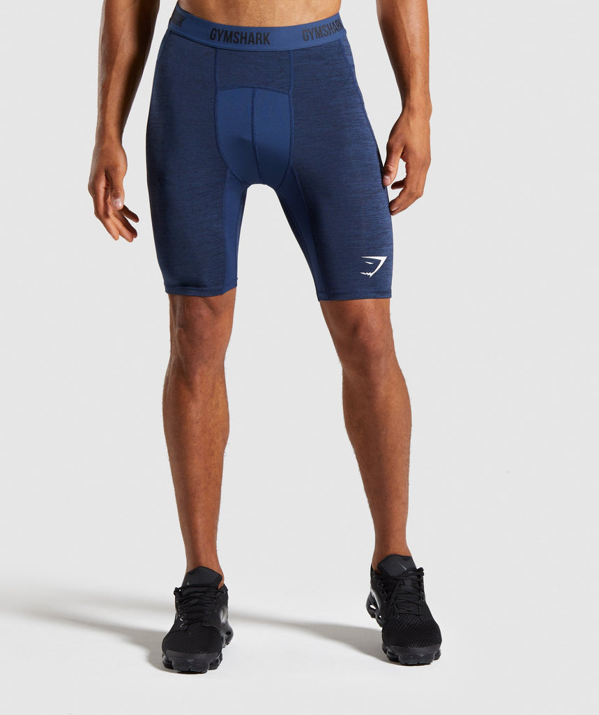 Gymshark Element+ Baselayer Shorts - Dark Blue Marl 1