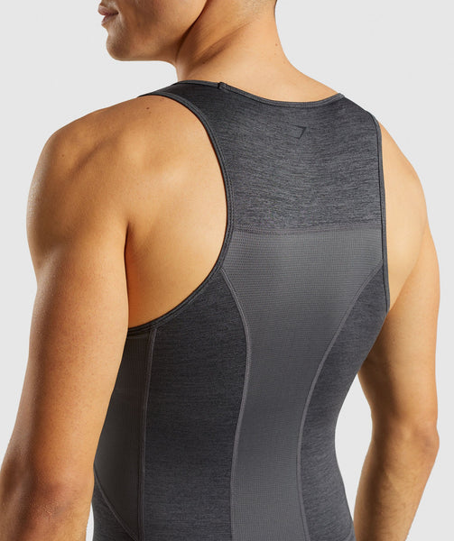 Gymshark Element+ Baselayer Tank - Black Marl 4