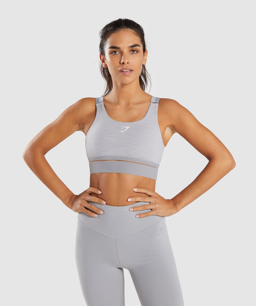 Gymshark Embody Sports Bra - Light Grey Marl 4