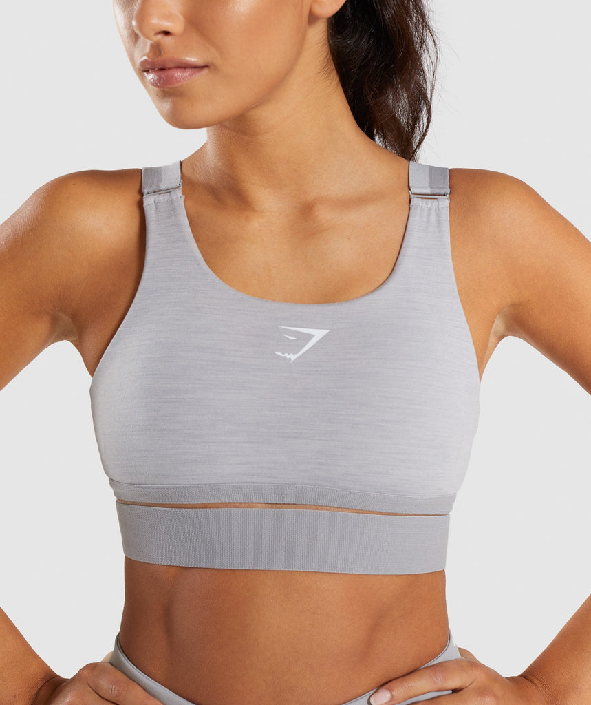 Gymshark Embody Sports Bra - Light Grey Marl 6
