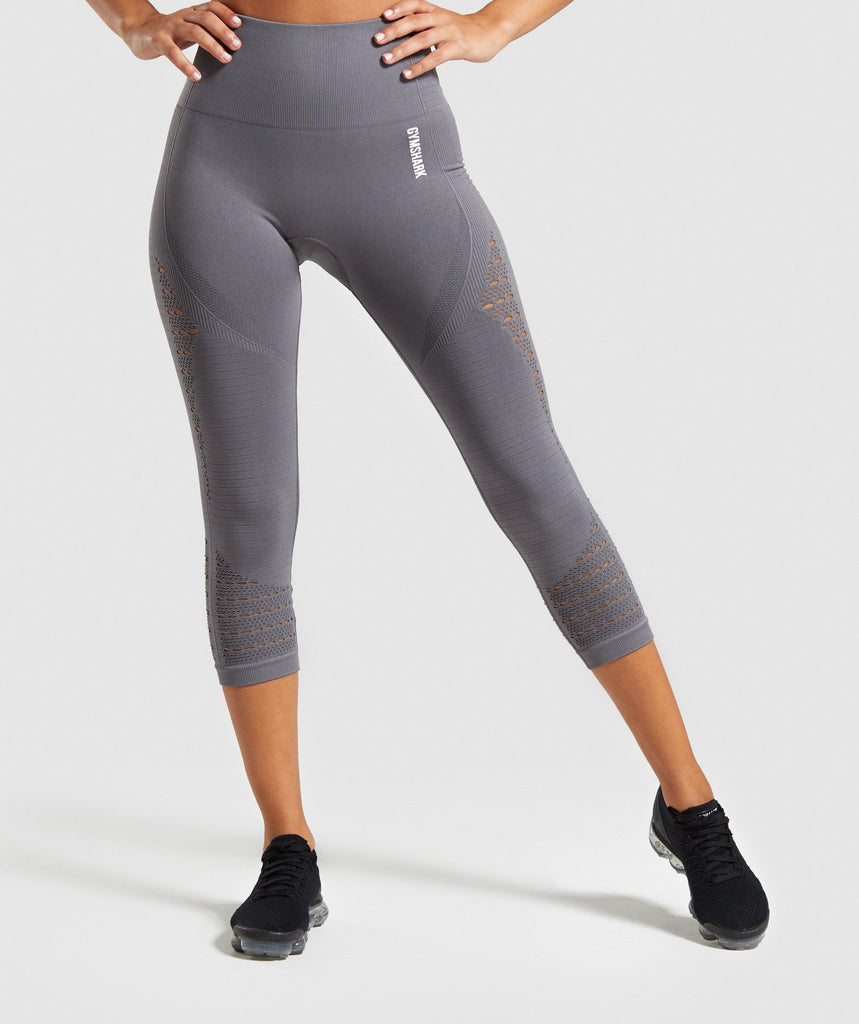 Gymshark Energy+ Seamless Cropped Leggings - Smokey Grey 1