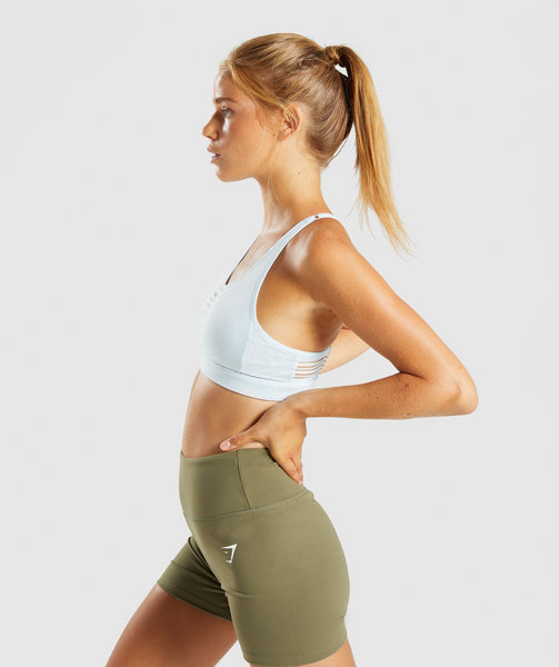 Gymshark Ease Sports Bra - Ice Blue 2