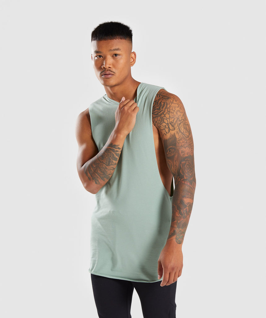 Gymshark Eaze Sleeveless T-Shirt - Pale Green 1