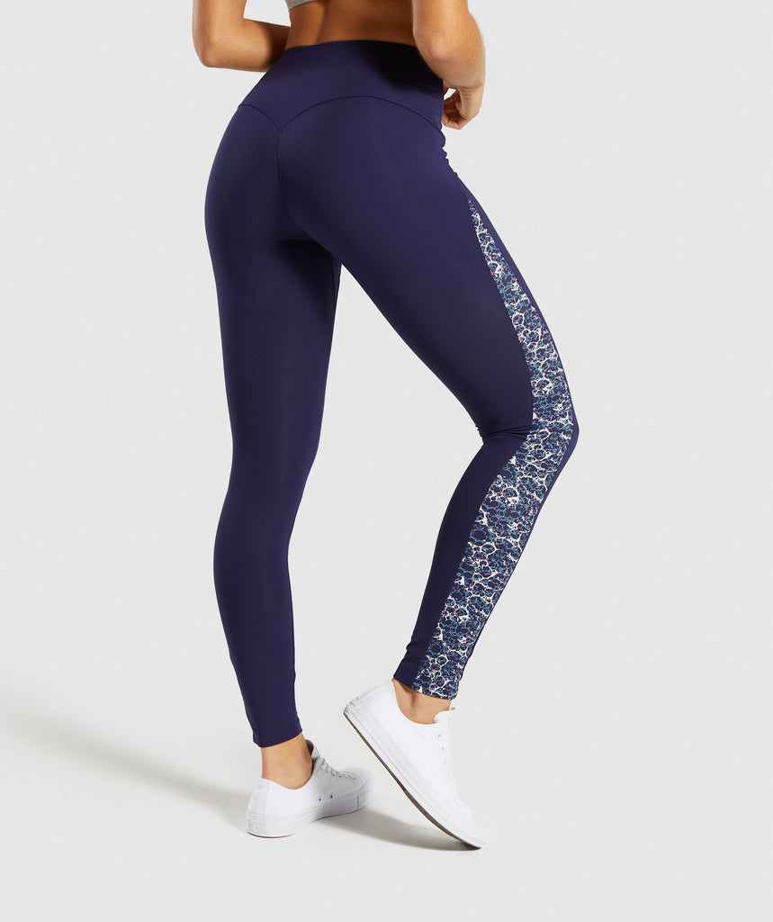 Gymshark Efflux Leggings - Evening Navy Blue 2