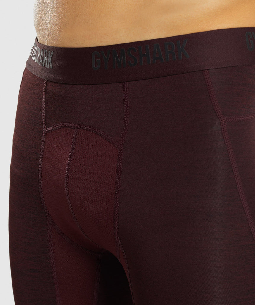Gymshark Element+ Baselayer Shorts - Ox Red Marl 6