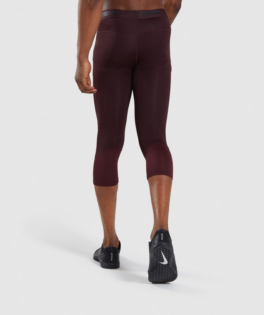 Gymshark Element+ Baselayer 3/4 Leggings - Ox Red Marl 2