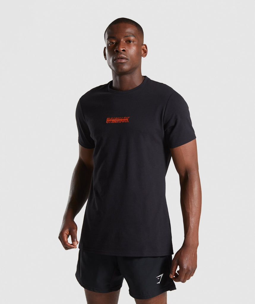 Gymshark Embroidered Logo T-Shirt - Black 1