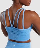 Gymshark Energy+ Seamless Crop Top - Blue 11