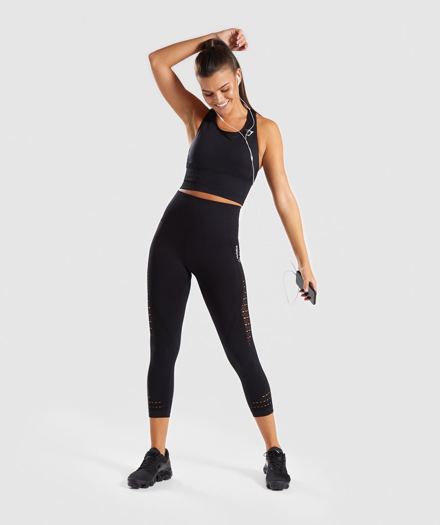 Gymshark Energy Seamless Crop Vest - Black 5