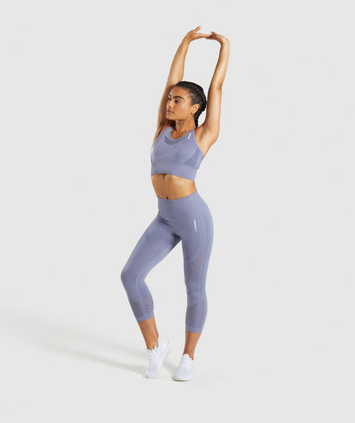 Gymshark Energy+ Seamless Cropped Leggings - Steel Blue 3