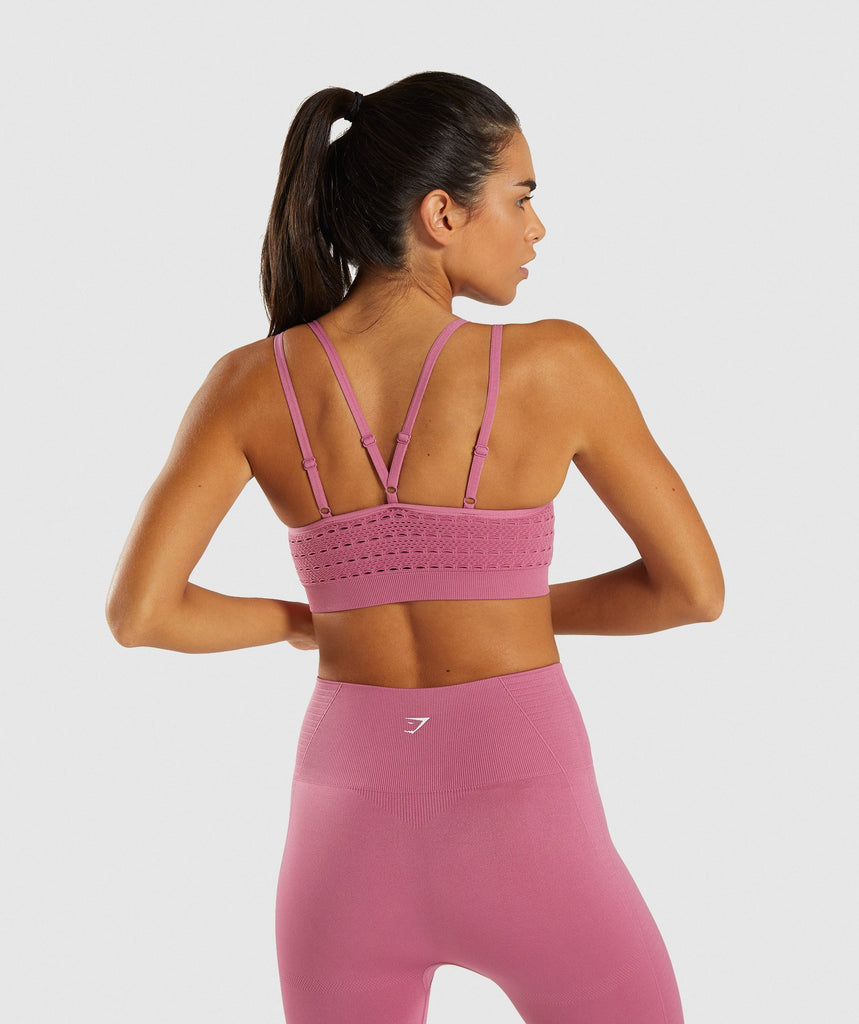 Gymshark Energy+ Seamless Sports Bra - Dusky Pink 2