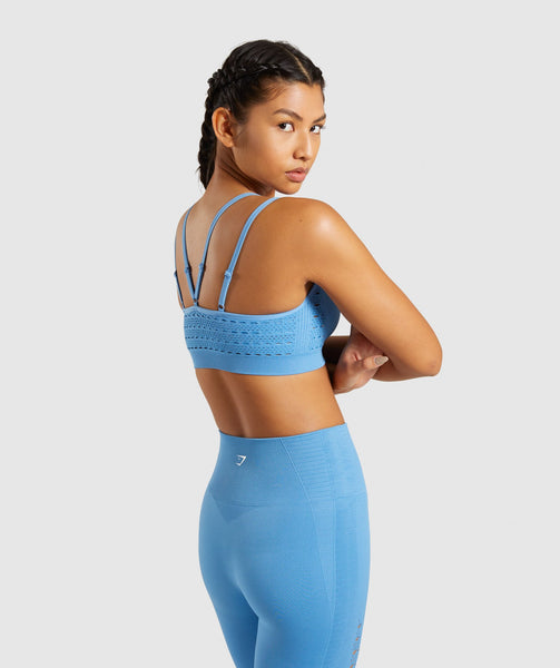 Gymshark Energy+ Seamless Sports Bra - Blue 1