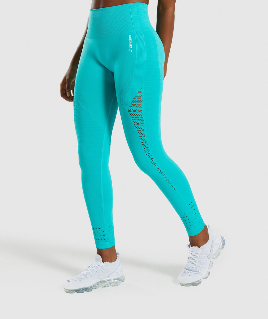 Gymshark Energy+ Seamless Leggings - Tropical Blue 1