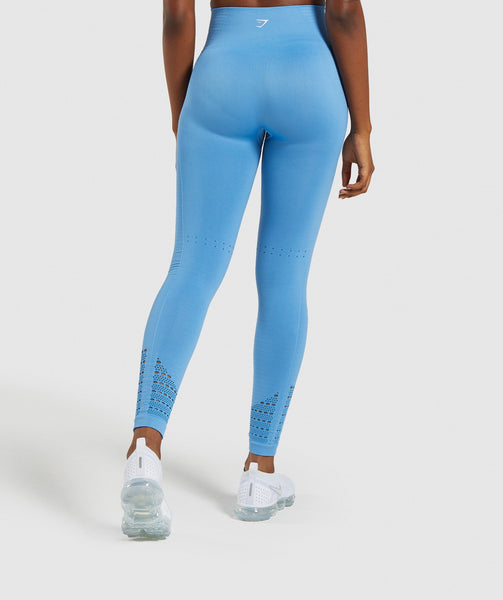 Gymshark Energy+ Seamless Leggings - Blue 1