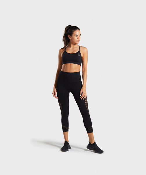 Gymshark Energy Seamless Sports Bra - Black 4