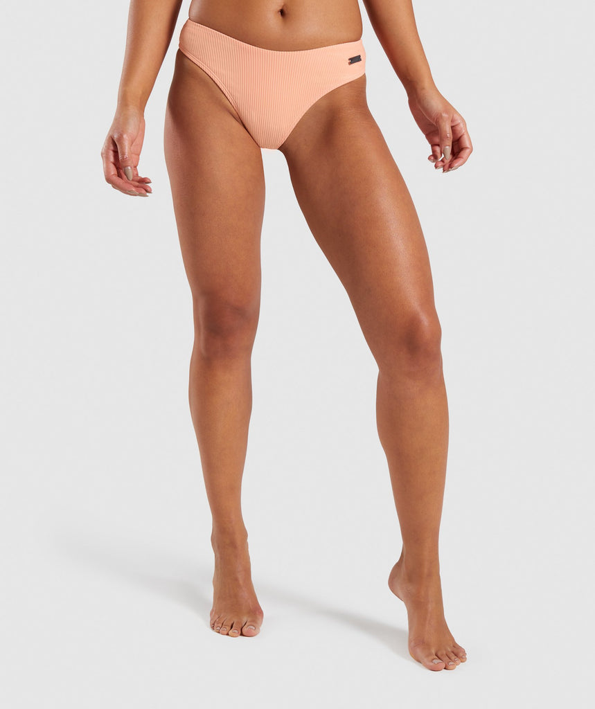 Gymshark Essence Bikini Low Rise Bottoms - Peach 1