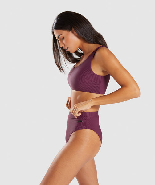 Gymshark Essence Bikini Top - Dark Ruby 2