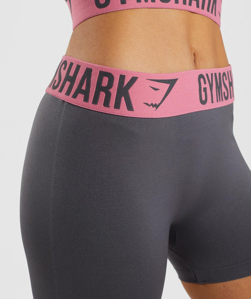 Gymshark Fit Shorts - Charcoal/Dusky Pink 4
