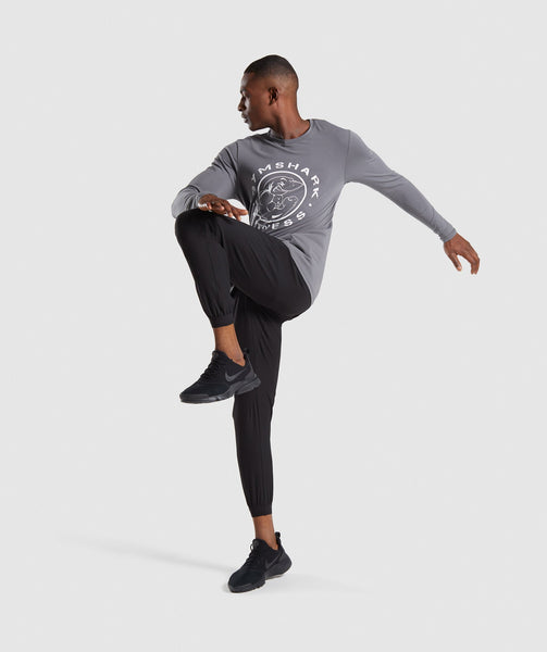 Gymshark Legacy Long Sleeve T-Shirt - Smokey Grey 3