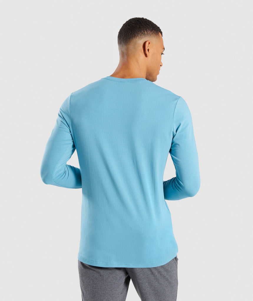 Gymshark Legacy Long Sleeve T-Shirt - Dusky Teal 2