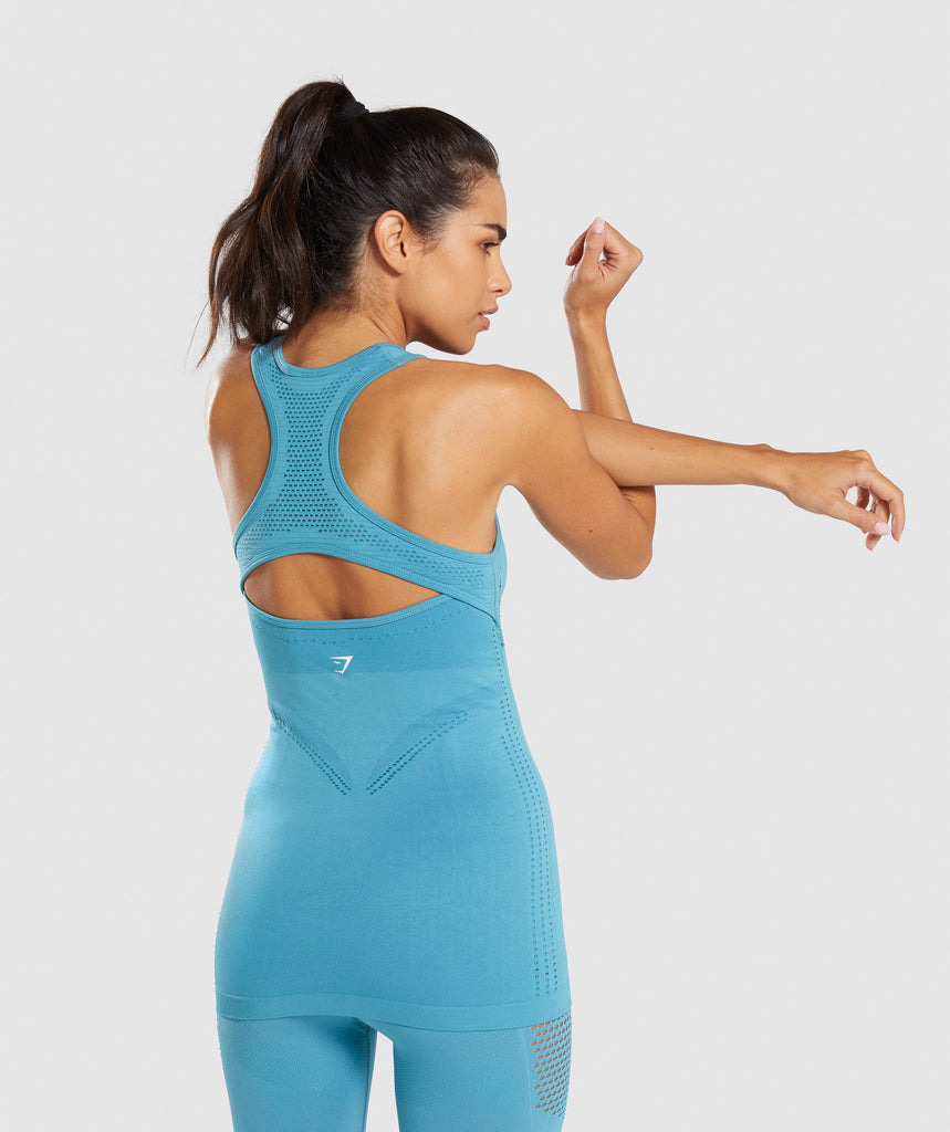 Gymshark Flawless Knit Vest - Sea Blue 2