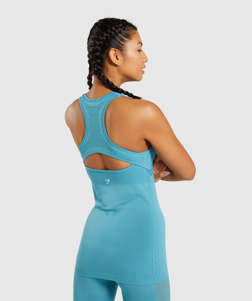 Gymshark Flawless Knit Vest - Teal 2