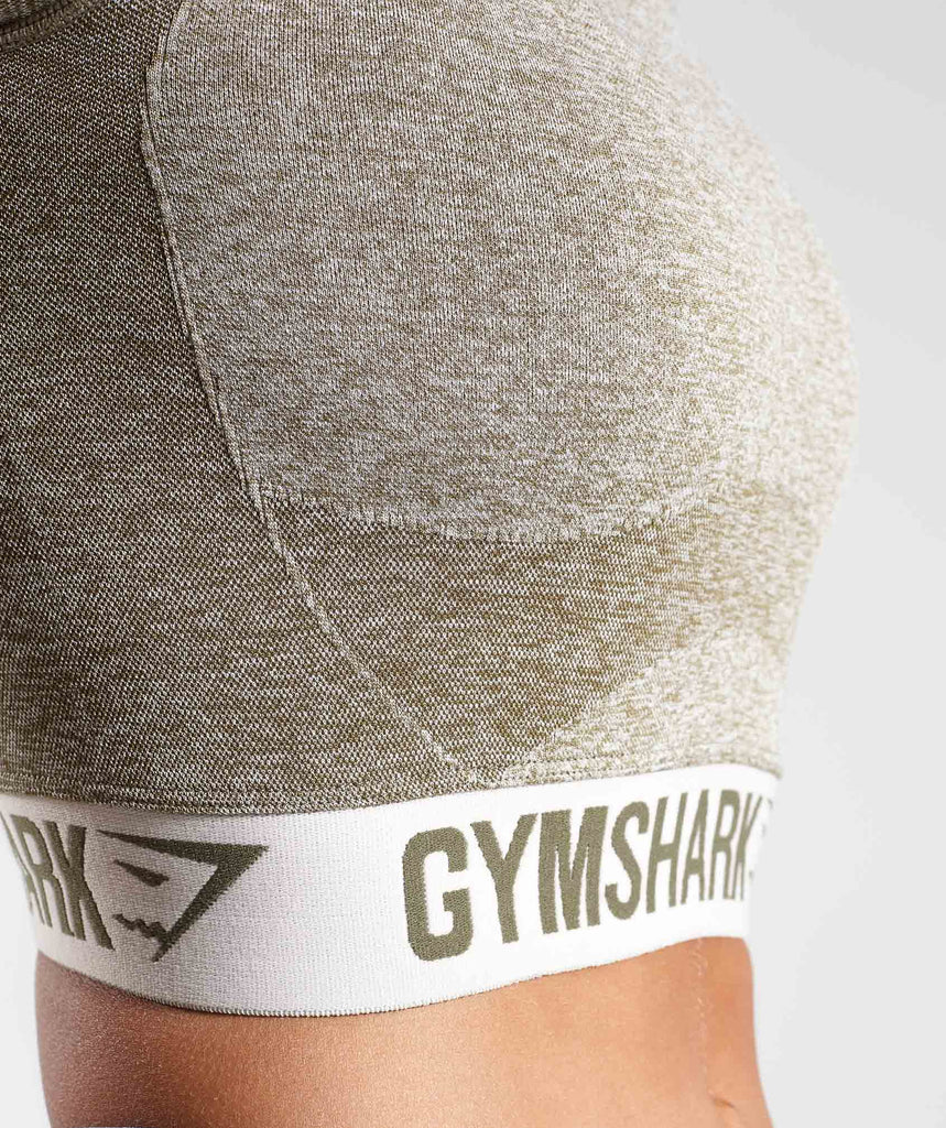 Gymshark Flex Crop Top - Khaki/Sand 5
