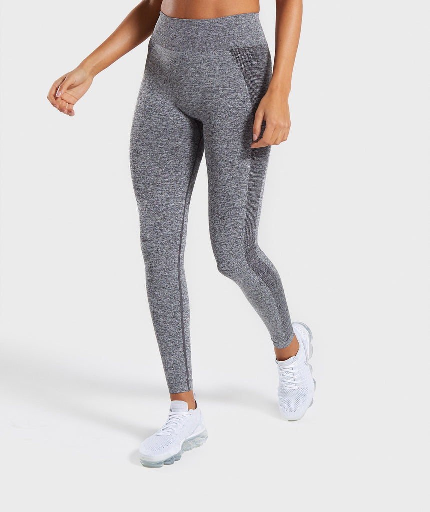 Gymshark Flex High Waisted Leggings - Grey/Pink 1