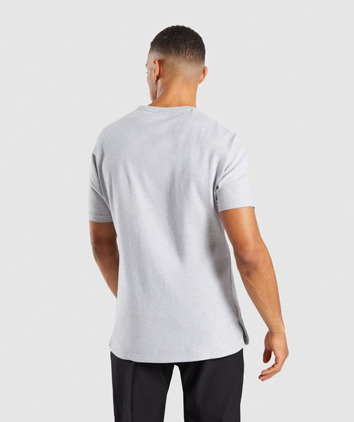 Gymshark Fresh T-Shirt - Light Grey Marl 1