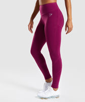 Gymshark Fused Ankle Leggings - Deep Plum 9