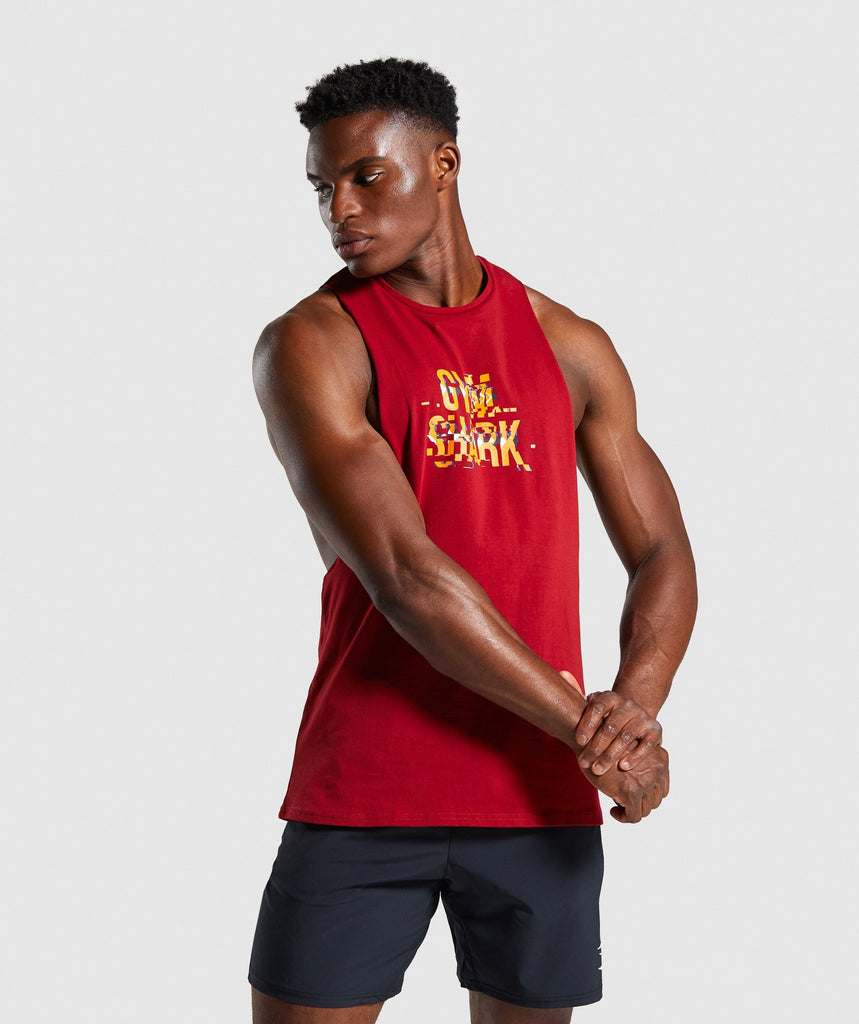 Gymshark Glitch Tank - Red 1