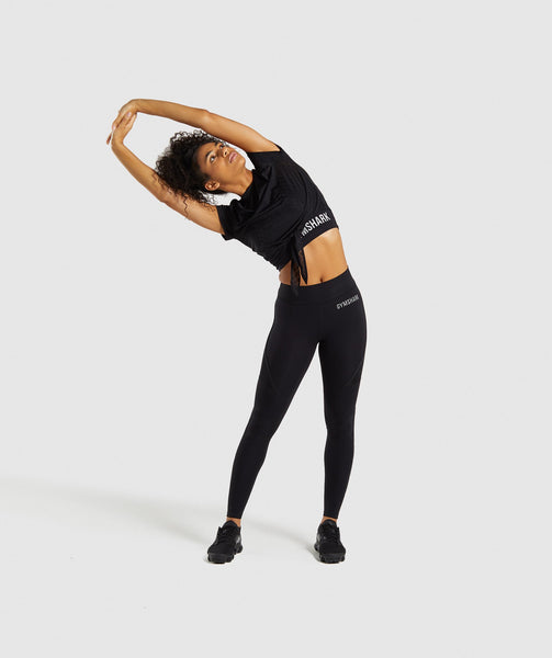 Gymshark Geo Mesh Two In One Top - Black 3