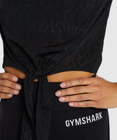 Gymshark Geo Mesh Two In One Top - Black 11